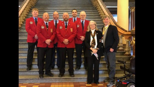 IFA Board with lobbyist Cyndi and John Pederson.